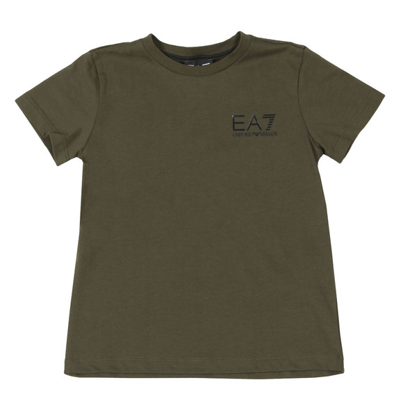 EA7 Emporio Armani Boys Green Small  Logo T Shirt main image