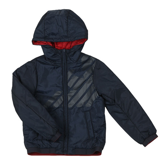 Emporio Armani Boys Blue Reversible Hooded Jacket