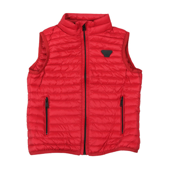 Emporio Armani Boys Red Down Gillet