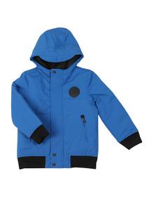 BOSS Boys Blue Hooded Bomber Jacket