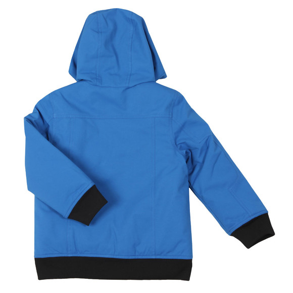 BOSS Bodywear Boys Blue Hooded Bomber Jacket main image