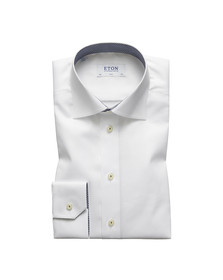 Eton Mens White Micro Panda Detail Shirt
