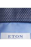 Eton Mens Blue Micro Panda Detail Shirt