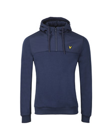 Lyle and Scott Mens Blue Soft Shell Jersey 1/4 Zip Hoodie