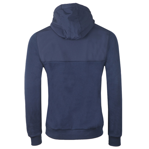 Lyle and Scott Mens Blue Soft Shell Jersey 1/4 Zip Hoodie main image