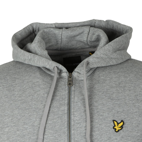 Lyle and Scott Mens Grey Zip Through Hoodie main image