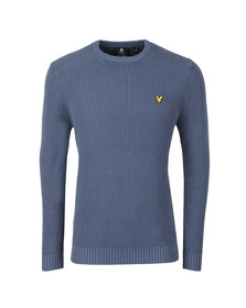Lyle and Scott Mens Blue Rib Jumper