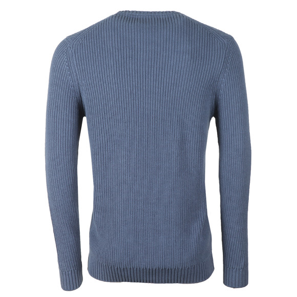 Lyle and Scott Mens Blue Rib Jumper main image