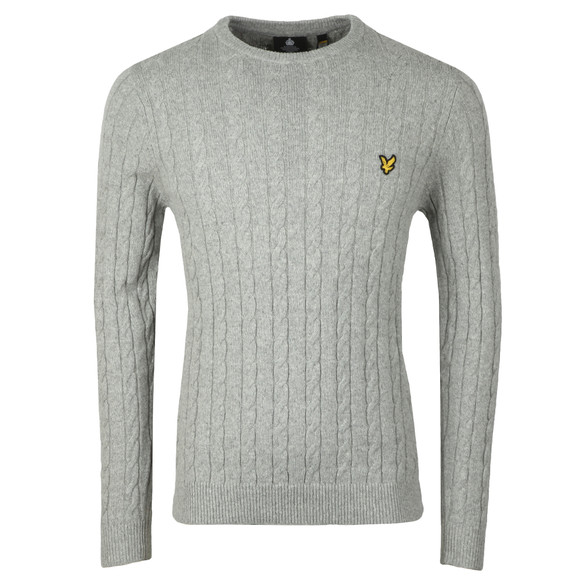 Lyle and Scott Mens Grey Cable Jumper main image