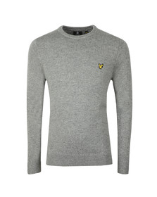 Lyle and Scott Mens Grey Crew Neck Lambswool Blend Jumper