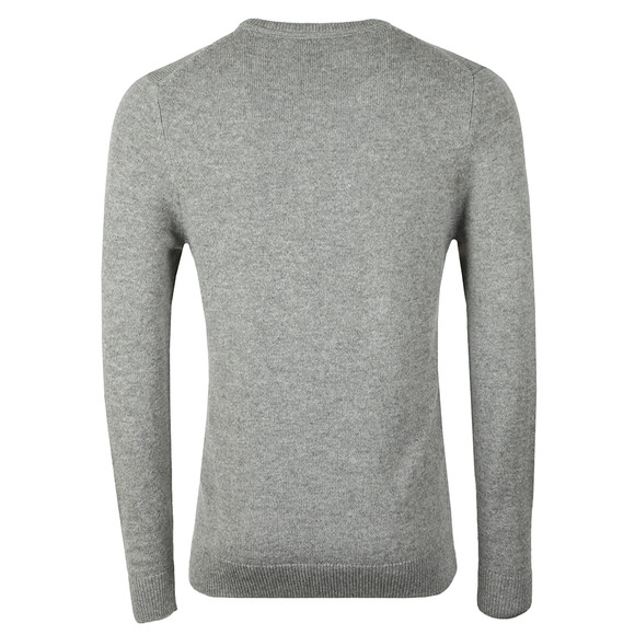 Lyle and Scott Mens Grey Crew Neck Lambswool Blend Jumper main image