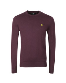 Lyle and Scott Mens Purple Crew Neck Jumper