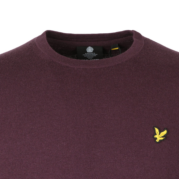Lyle and Scott Mens Purple Crew Neck Jumper main image