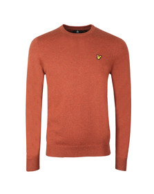 Lyle and Scott Mens Orange Crew Neck Jumper