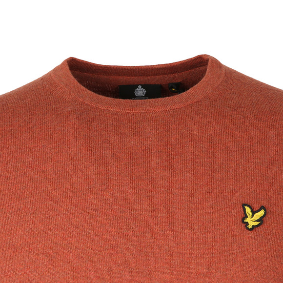 Lyle and Scott Mens Orange Crew Neck Jumper main image