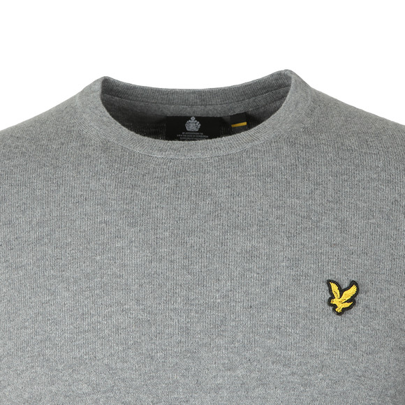 Lyle and Scott Mens Grey Crew Neck Jumper main image