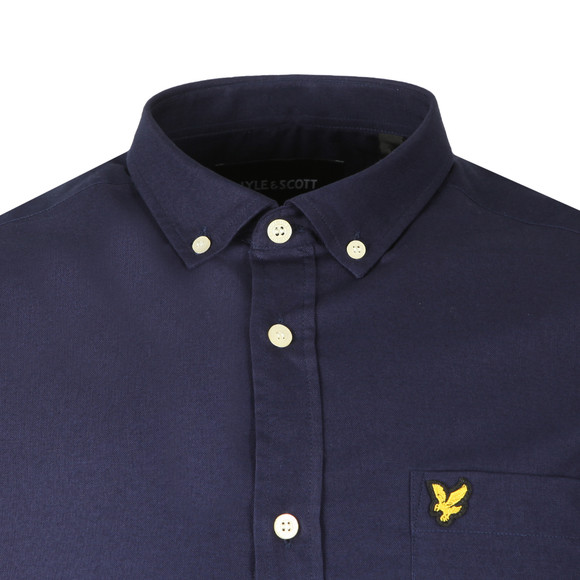 Lyle and Scott Mens Blue Oxford Shirt main image