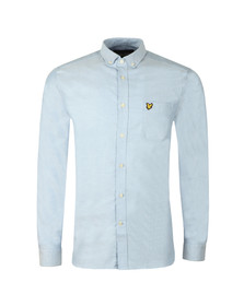 Lyle and Scott Mens Blue Oxford Shirt