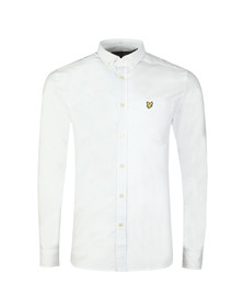 Lyle and Scott Mens White Oxford Shirt
