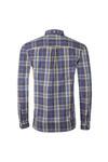 Lyle and Scott Mens Blue Poplin Fine Check Shirt