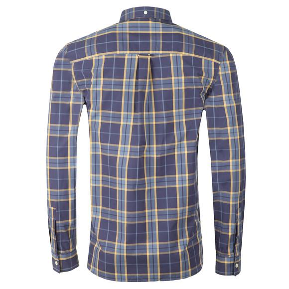 Lyle and Scott Mens Blue Poplin Fine Check Shirt main image