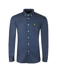 Lyle and Scott Mens Blue Denim Shirt