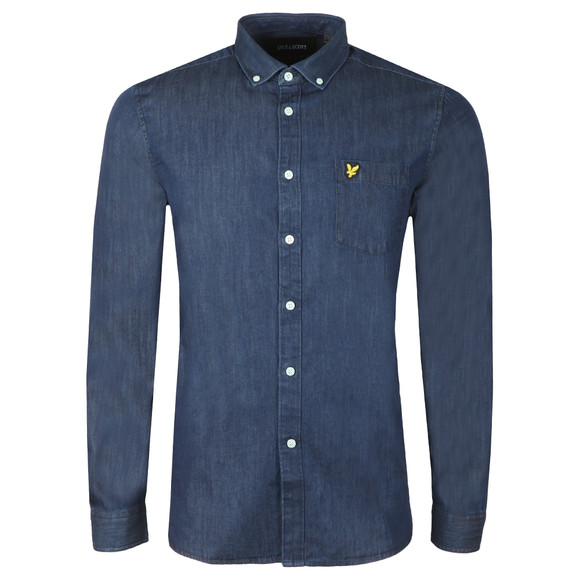 Lyle and Scott Mens Blue Denim Shirt main image
