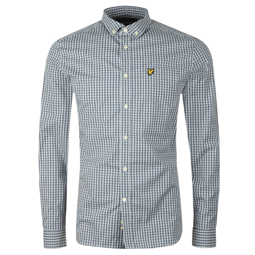 LS Slim Fit Gingham Shirt main image