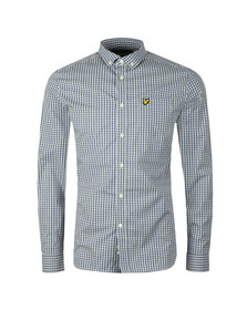 Lyle and Scott Mens Blue LS Slim Fit Gingham Shirt
