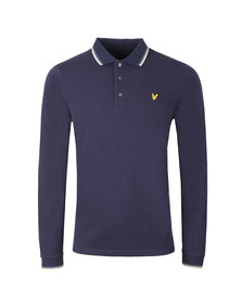 Lyle and Scott Mens Blue LS Tipped Polo Shirt
