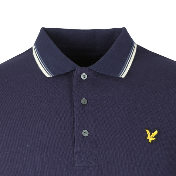 Lyle and Scott Mens Blue LS Tipped Polo Shirt main image
