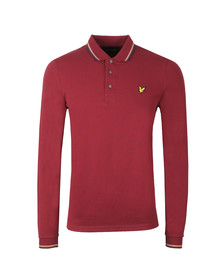 Lyle and Scott Mens Red LS Tipped Polo Shirt