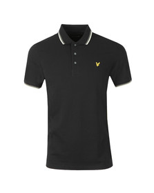 Lyle and Scott Mens Black Tipped Polo Shirt