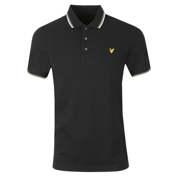 Lyle and Scott Mens Black Tipped Polo Shirt main image
