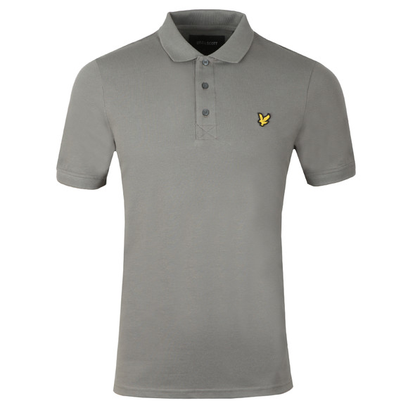 Lyle and Scott Mens Grey Polo main image