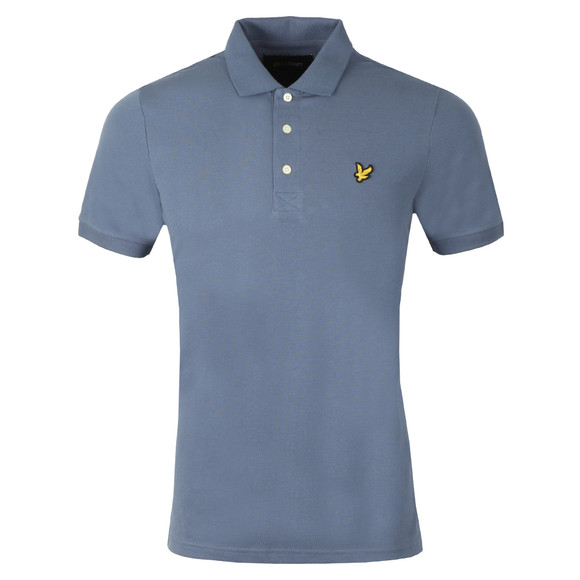 Lyle and Scott Mens Blue S/S Polo main image