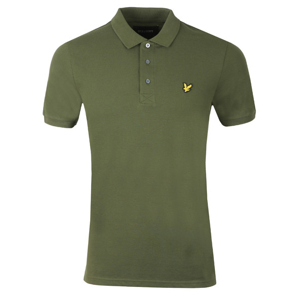 Lyle and Scott Mens Green Polo main image