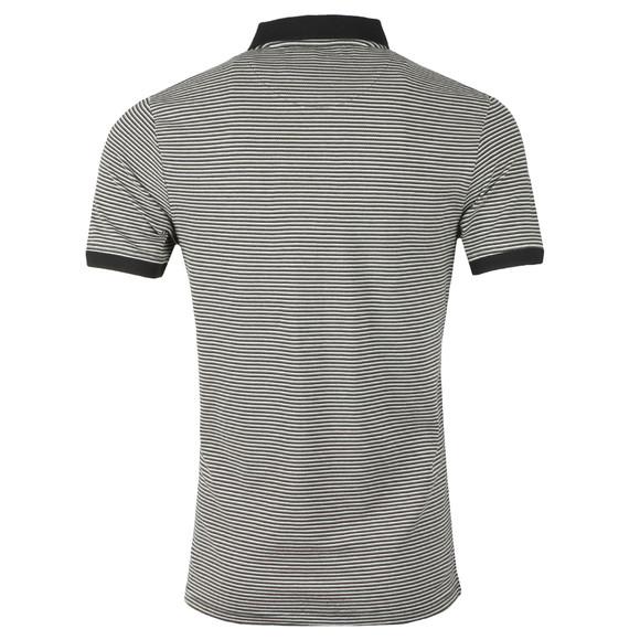 Lyle and Scott Mens Black Feeder Stripe Polo Shirt main image