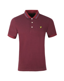 Lyle and Scott Mens Purple Oxford Tipped Pique Polo Shirt
