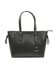 Michael Kors Womens Black Voyager Medium Leather Tote Bag