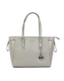 Michael Kors Womens Grey Voyager Medium Leather Tote Bag