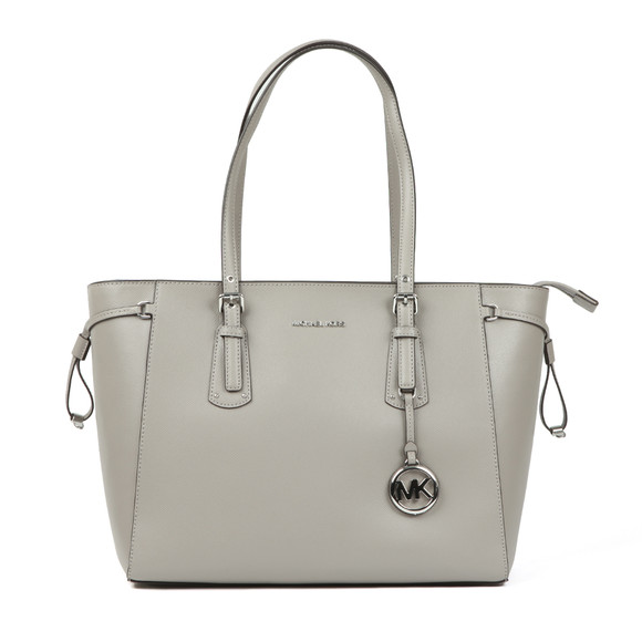 Michael Kors Womens Grey Voyager Medium Leather Tote Bag main image
