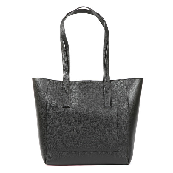 Michael Kors Womens Black Junie Mid Leather Tote Bag main image