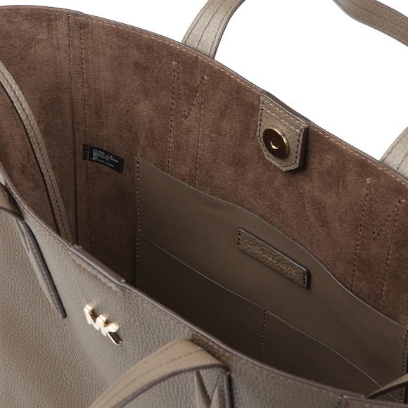 Michael Kors Womens Beige Junie Mid Leather Tote Bag main image