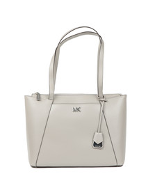 Michael Kors Womens Grey Maddie Medium Leather Tote Bag