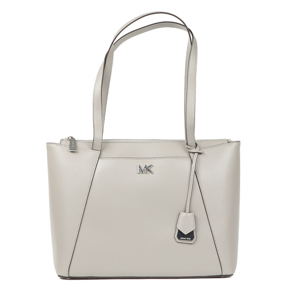 Michael Kors Womens Grey Maddie Medium Leather Tote Bag main image