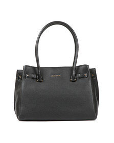 Michael Kors Womens Black Addison Medium Pebble Leather Tote