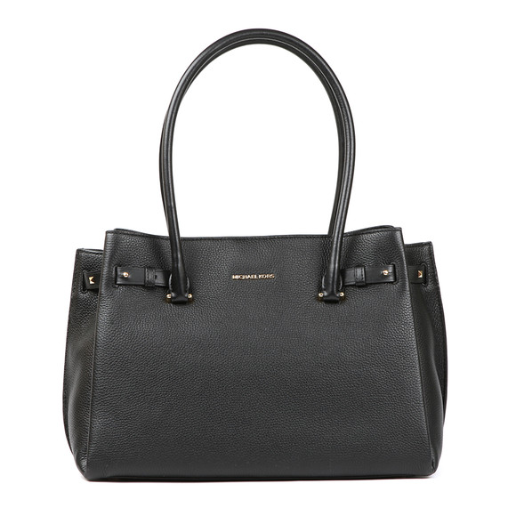 Michael Kors Womens Black Addison Medium Pebble Leather Tote main image