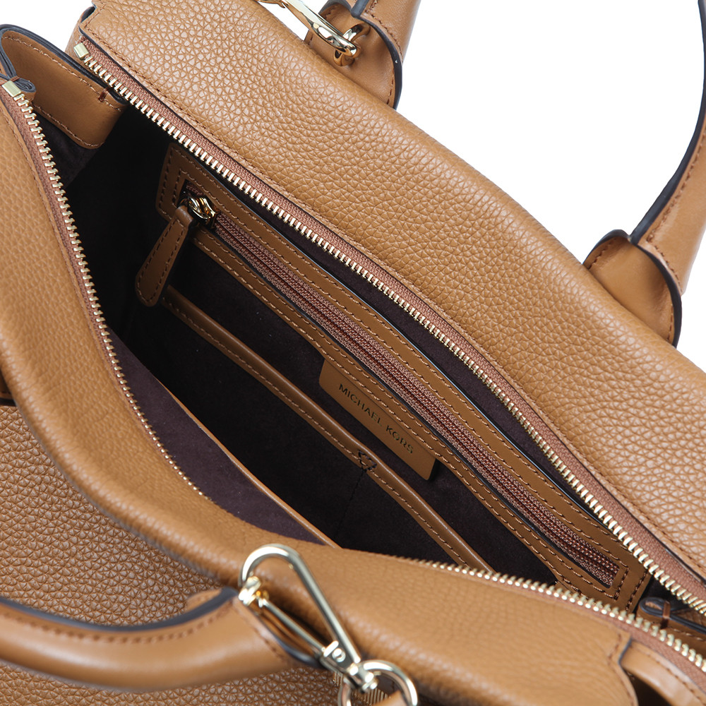 Rollins Large Pebbled Leather Satchel main image