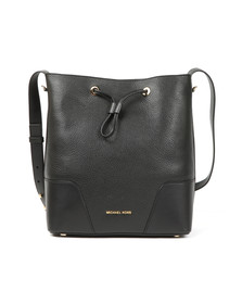 Michael Kors Womens Black Cary Mid Bucket Bag
